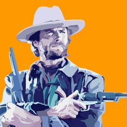Big Art Icons: Clint Eastwood II