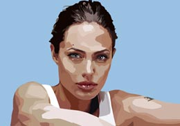 Big Art Icons: Angelina Jolie II