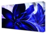 Canvas Art: Electric Blue Flower